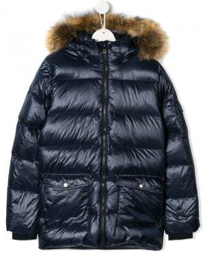 TEEN padded hooded coat Pyrenex Kids. Цвет: синий