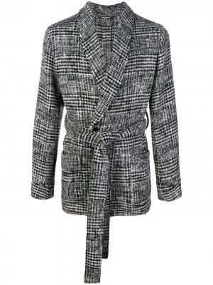 Кардиган с узором тартан Dolce & Gabbana. Цвет: серый