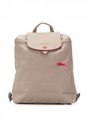 Рюкзак Le Pliage с логотипом Longchamp. Цвет: серый
