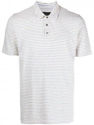 Рубашка поло в тонкую полоску Roberto Collina. Цвет: белый
