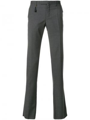 Классические брюки-чинос Incotex. Цвет: серый