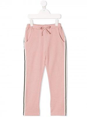 Спортивные брюки с полосками по бокам Noé & Zoë. Цвет: розовый