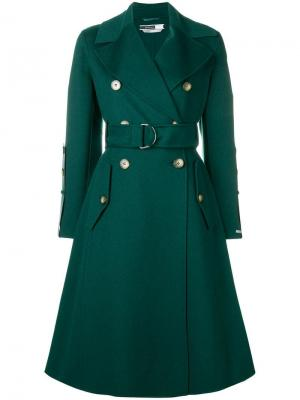 Double breasted trench coat Sport Max Code. Цвет: зеленый