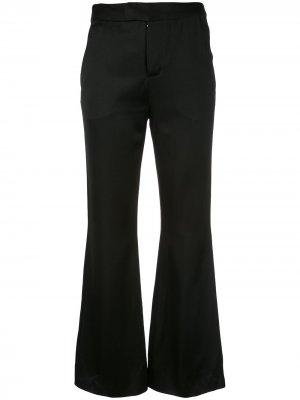 Укороченные расклешенные брюки Josie Natori. Цвет: черный