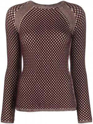 Джемпер фактурной вязки Victoria Beckham. Цвет: коричневый