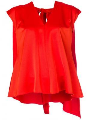 Блузка с имитацией кейпа MSGM. Цвет: желтый
