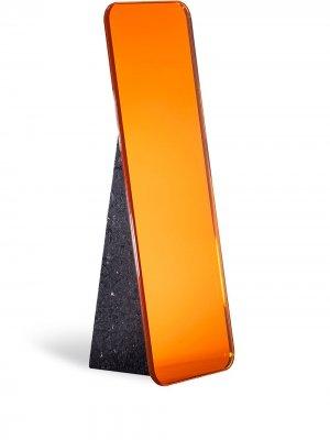 Настольное зеркало Olivia Pulpo. Цвет: оранжевый