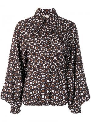 Dotted print shirt Mulberry. Цвет: синий
