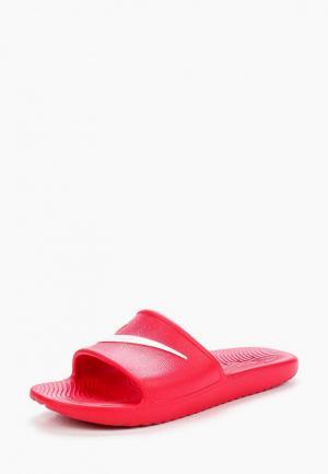 Сланцы Nike. Цвет: красный