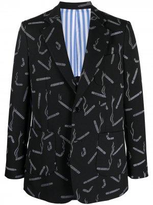 Однобортный пиджак Dandy Cigarette Viktor & Rolf. Цвет: синий