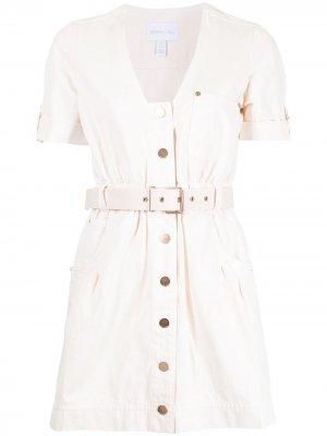 Платье мини Bronte с поясом Alice McCall. Цвет: нейтральные цвета