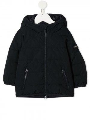 Куртка на молнии с капюшоном Woolrich Kids. Цвет: синий