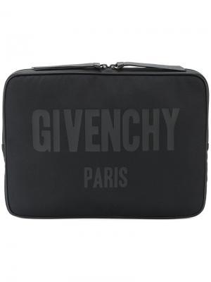 Чехол для ноутбука с логотипом Givenchy. Цвет: чёрный