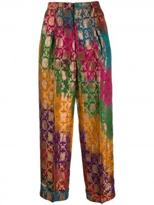 Жаккардовые брюки 1990-х годов с эффектом градиент Romeo Gigli Pre-Owned. Цвет: оранжевый