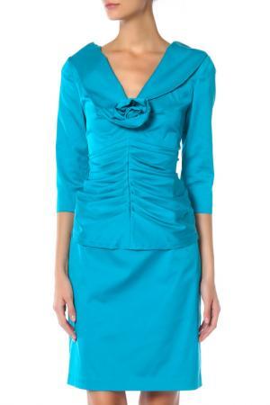 Блуза BARBARA SCHWARZER. Цвет: голубой