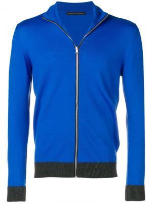 Zipped cardigan Daniele Alessandrini. Цвет: синий