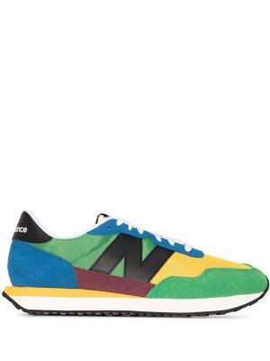 Кроссовки 237 в стиле колор-блок New Balance. Цвет: желтый