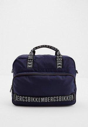 Сумка Bikkembergs. Цвет: синий