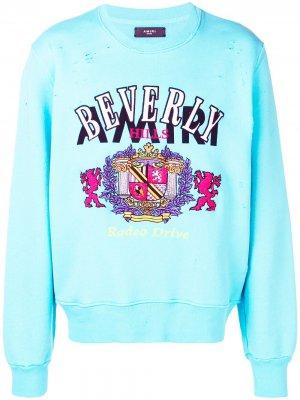 Трикотажный свитер Beverly AMIRI. Цвет: синий
