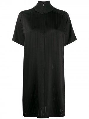 Платье-трапеция с высоким воротником Rag & Bone. Цвет: черный