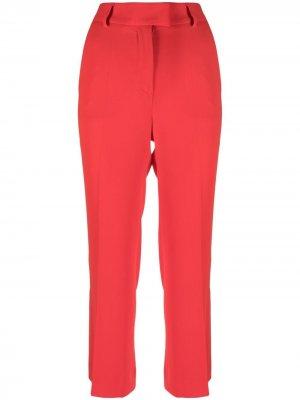 Укороченные брюки прямого кроя Alberto Biani. Цвет: красный