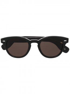 Солнцезащитные очки Carey Grant Oliver Peoples. Цвет: черный