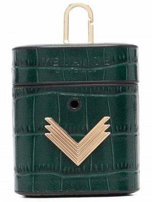 Чехол для AirPods с тиснением под крокодила Manokhi. Цвет: зеленый