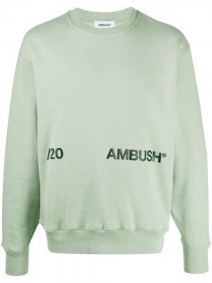 Свитер с логотипом AMBUSH. Цвет: зеленый