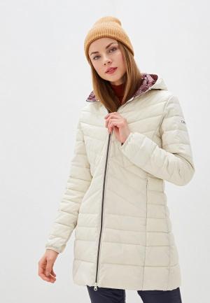 Куртка утепленная CMP. Цвет: бежевый