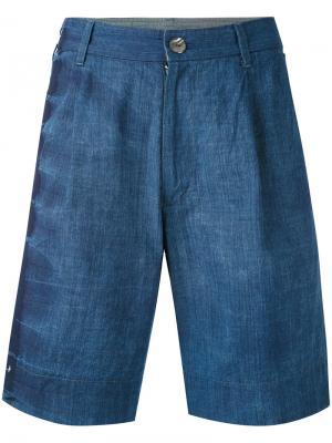 Джинсовые шорты Suzusan. Цвет: синий