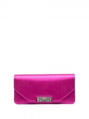 Клатч с гравированным логотипом Gucci. Цвет: розовый