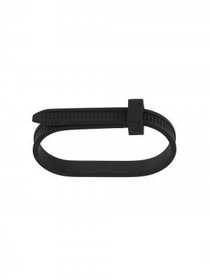 Двойное кольцо AMBUSH. Цвет: черный