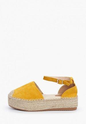 Эспадрильи Sweet Shoes. Цвет: желтый