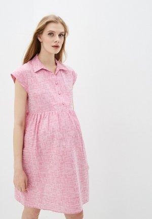 Платье Pietro Brunelli Maternity. Цвет: розовый