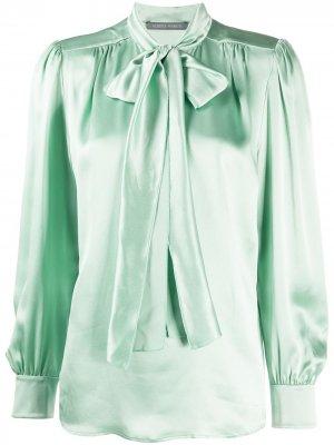 Блузка с бантом Alberta Ferretti. Цвет: зеленый