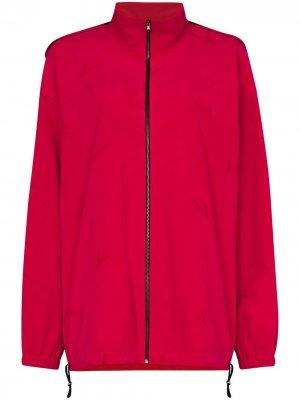 Легкая куртка на молнии с капюшоном We11done. Цвет: розовый