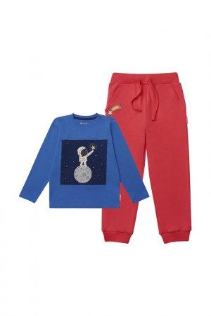 Комплект: джемпер, брюки Kogankids. Цвет: красный