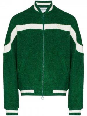 Махровая спортивная куртка Casablanca. Цвет: зеленый