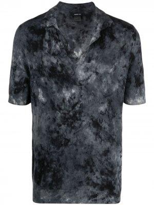 Кашемировая рубашка поло с абстрактным принтом Avant Toi. Цвет: черный