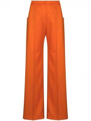 Расклешенные брюки с завышенной талией Materiel. Цвет: оранжевый