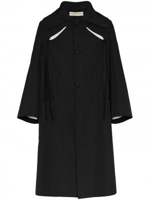 Однобортное пальто Pirate с прорезями Stefan Cooke. Цвет: черный