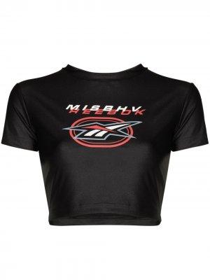 Укороченная футболка из коллаборации с Reebok MISBHV. Цвет: черный