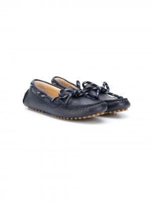 Мокасины со шнуровкой Emporio Armani Kids. Цвет: синий