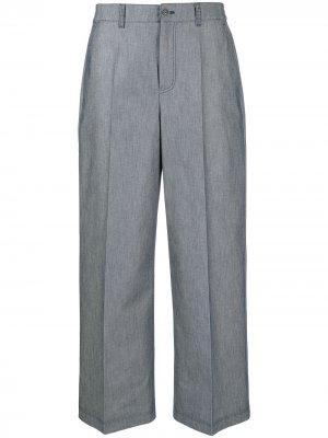 Укороченные брюки с завышенной талией Agnona. Цвет: синий