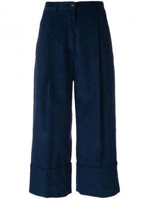 Cropped trousers I'M Isola Marras. Цвет: синий