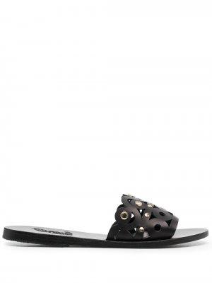 Шлепанцы Maistros Mirrors Ancient Greek Sandals. Цвет: черный