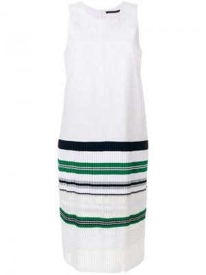 Striped hem dress Antonino Valenti. Цвет: белый