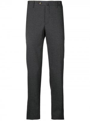 Классические брюки кроя слим Pt01. Цвет: серый