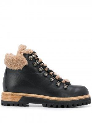 Ботинки на шнуровке Le Silla. Цвет: черный