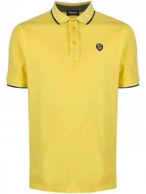 Рубашка поло с логотипом Blauer. Цвет: желтый